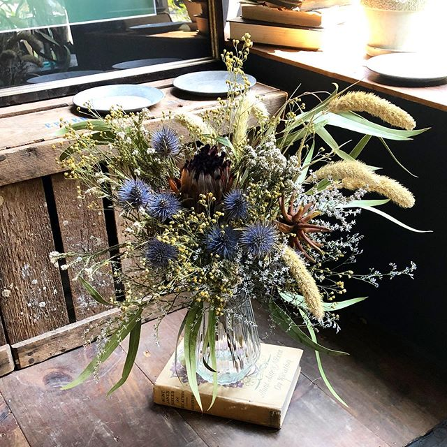 dried flower bouquet💐・本日は夕方から...