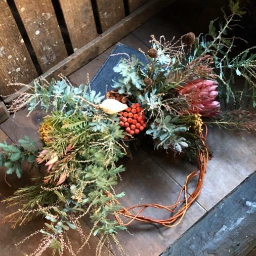 christmas wreathe🎄今年はそれぞれご希望...