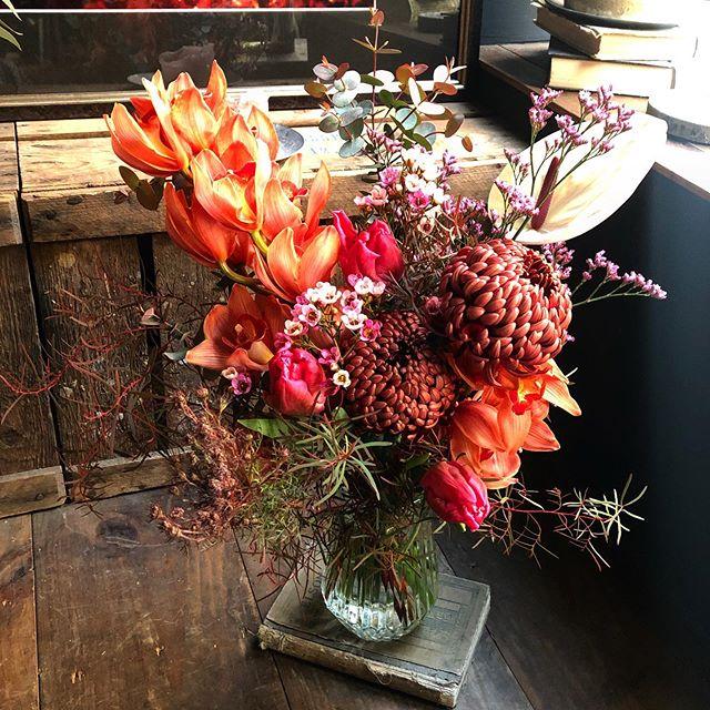 birthday bouquet 🌷見えづらいですが足元...