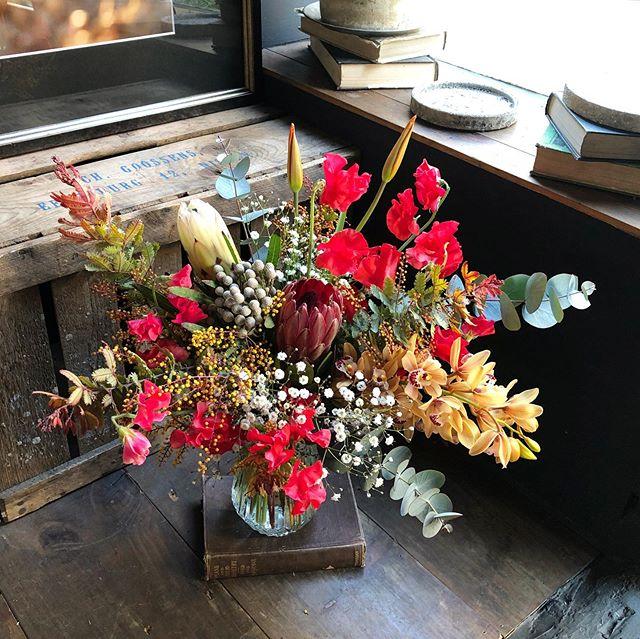 彼から少し遅目のValentine bouquet ❤︎...